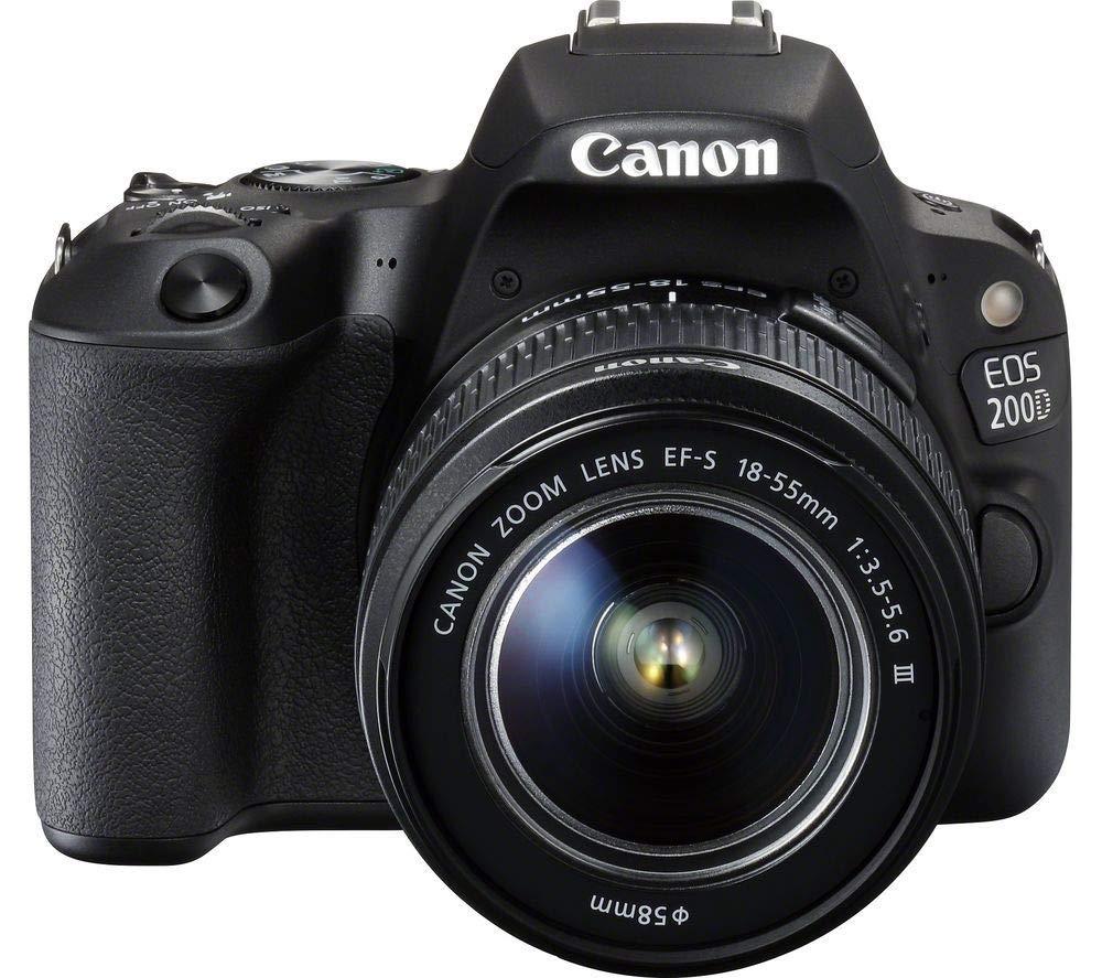 Canon EOS 200D + Objetivo EF-S 18-55 mm f/3,5-5,6 III - Juego de Cámara Digital SLR 24.2MP - Negro