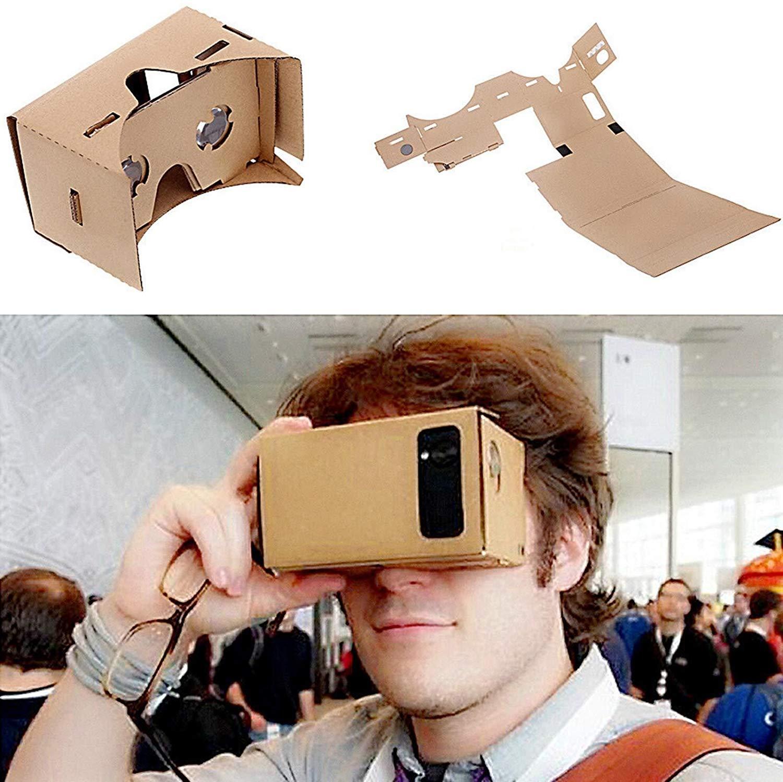 Cartón 3D Vr reintegrables gafas para 3,5 ¨C 6,0 pantalla iPhone 6S/6 Plus Galaxy HTC