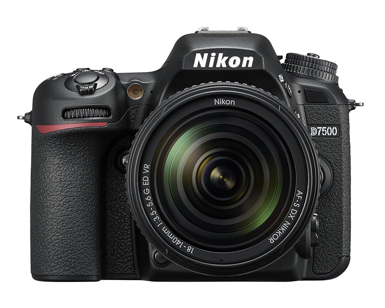 "Nikkon D7500 - Cámara réflex Digital de 20.9 MP (Pantalla LCD 3.2"", 4K/UHD, SnapBridge, Bluetooth, WiFi) Color Negro - Kit con Objetivo AF-S DX 18-140 mm f/3.5-5.6G ED VR"