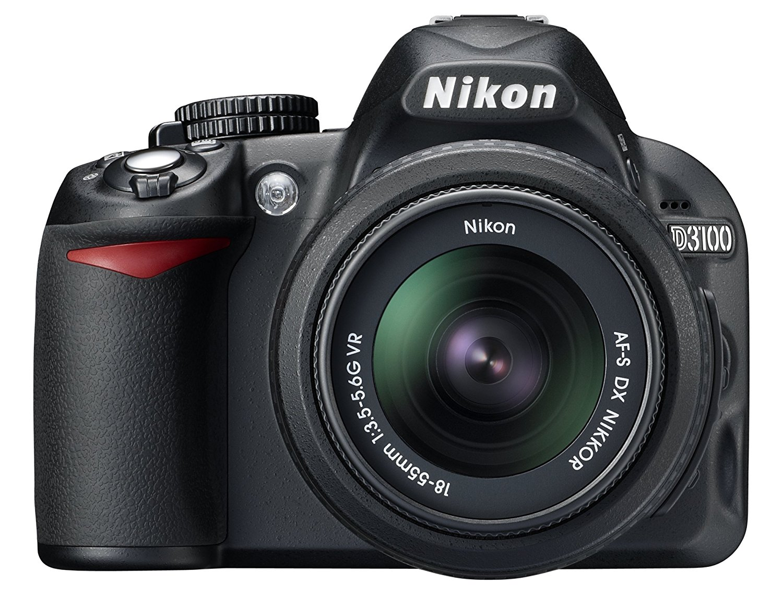 "Nikon D3100 - Cámara réflex digital de 14.2 Mp (pantalla 3"", estabilizador óptico, vídeo Full HD), color negro - kit con objetivo AF-S DX 18-55mm VR [importado]"