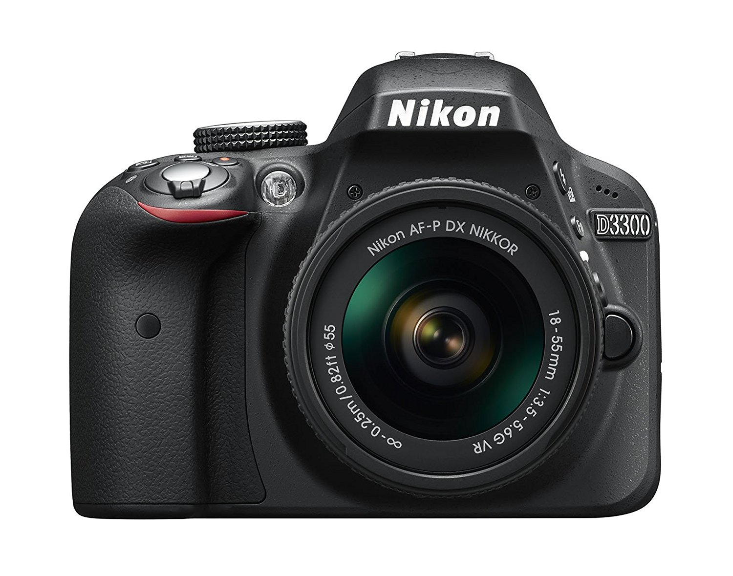 "Nikon D3300 + 18-55 AFP DX VR - Cámara réflex digital de 24,2 Mp (pantalla LCD 3"", estabilizador, vídeo Full HD), color negro - kit con objetivo 18-55MM AFP DX VR"