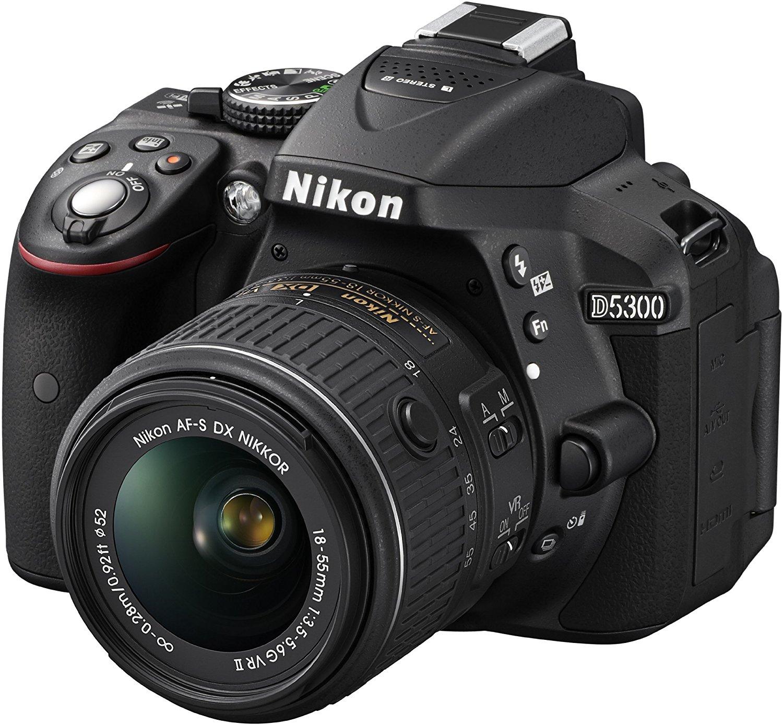 Nikon D5300 18/55Vr - Cámara compacta de 24 MP (1080p Full HD) negro