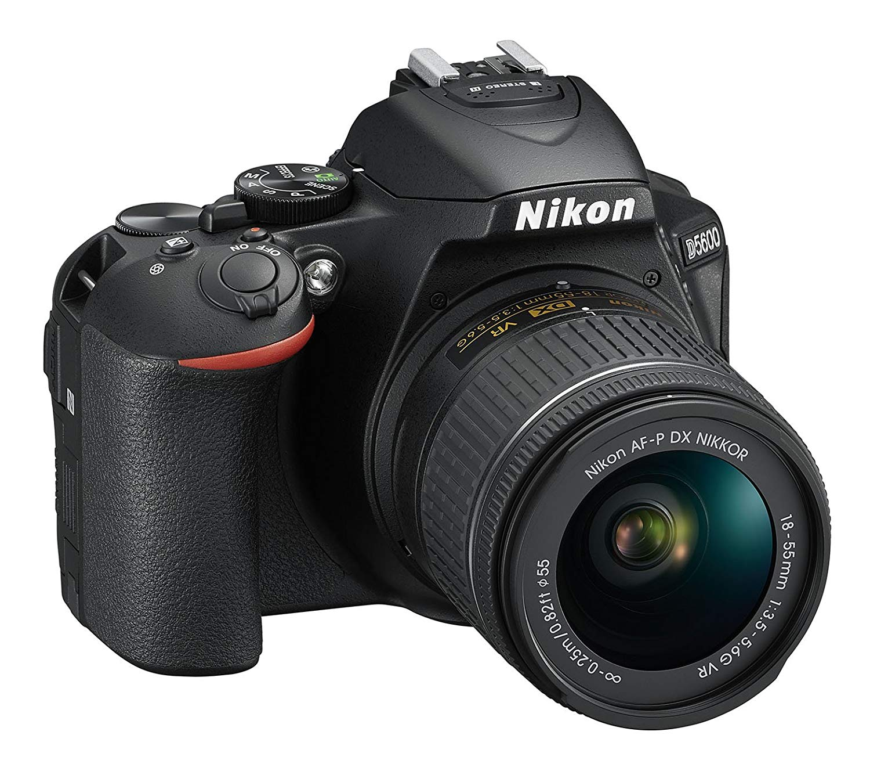 Nikon D5600 + AF-P DX 18-55mm VR + 8GB SD Juego de cámara SLR 24.2MP CMOS 6000 x 4000Pixeles Negro - Cámara Digital (24,2 MP, 6000 x 4000 Pixeles, CMOS, Full HD, Pantalla táctil, Negro)