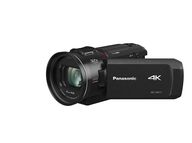 """Panasonic HC-VX11EG-K - Videocámara (Pantalla DE 7.5"""", 4K, BSI Mos, Batería de Ion de Litio), Color Negro"""