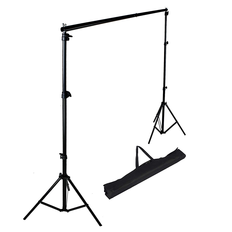 PMS 2.8 x 3m Sistema de Soporte para Fondo de Estudio Fotográfia fotográfico vídeo de Foto y Vídeo con Barra Transversal
