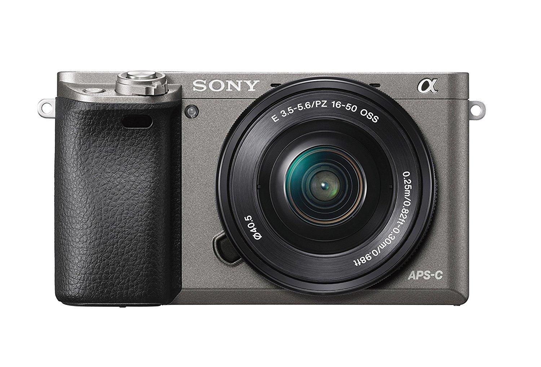 "Sony Alpha 6000 - Cámara EVIL de 24,3 MP (pantalla LCD 3"", estabilizador óptico, vídeo Full HD, WiFi), negro/gris - Kit cuerpo con objetivo 16-50 mm (SELP1650)"