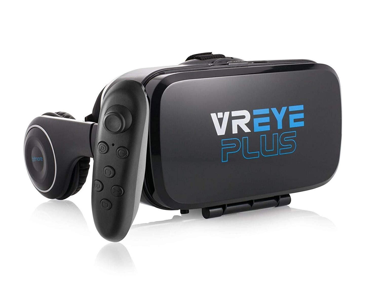 Virtual Reality - Gafas de realidad virtual 3D con control inalámbrico Bluetooth y audio integrado para smartphones Android, como Samsung Galaxy, HTC, LG, Motorola, Huawei, Oppo, Nokia, Sony, Google Pixel ETC.