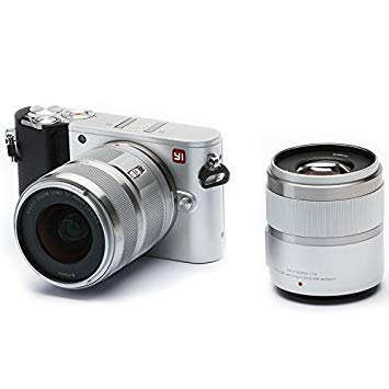 "'Yi M14K vídeo 20MP Mirrorless cámara Digital con 12–40mm""F3.5–5.6lente/42.5mm f1.8Lente Hielo Plata"