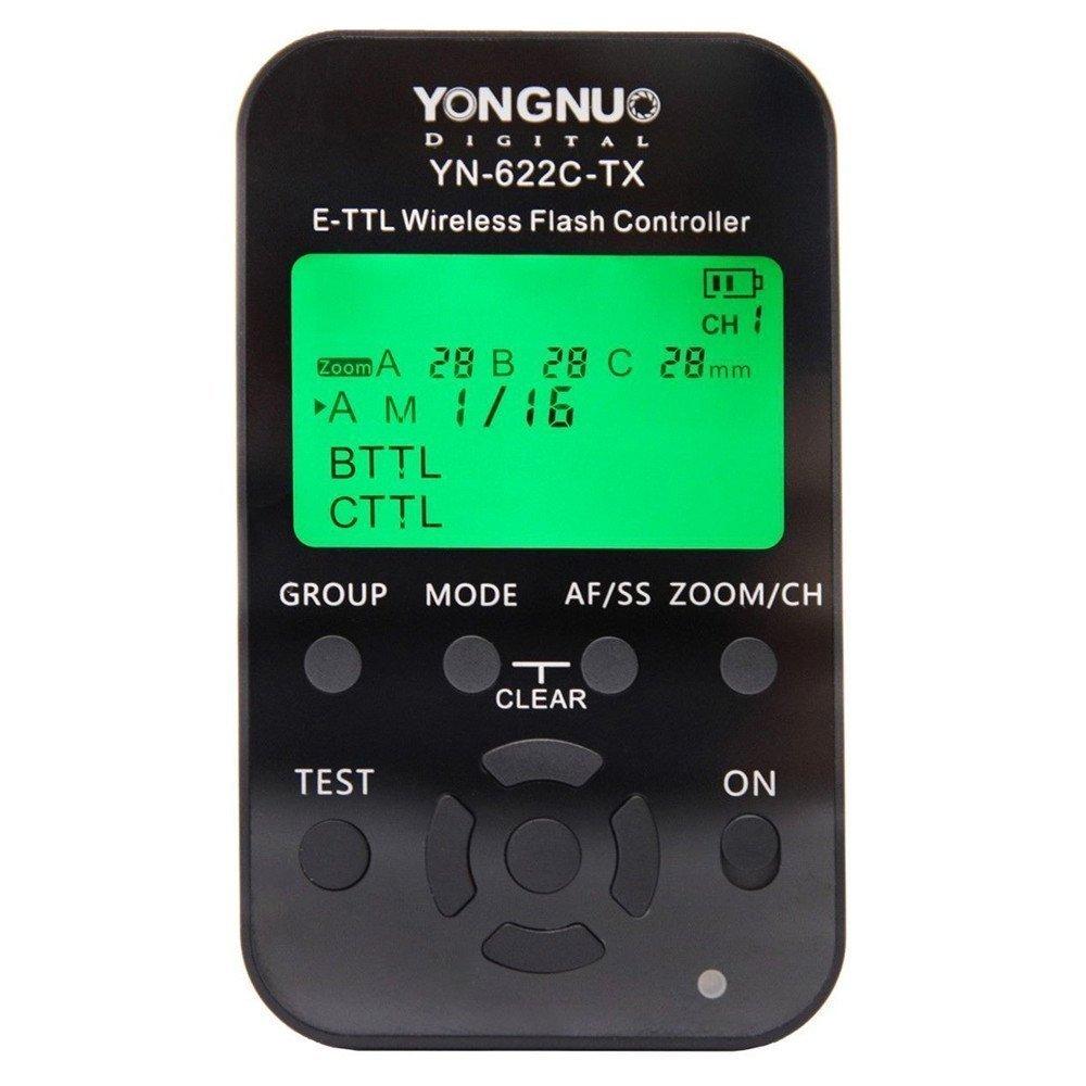 Yongnuo YN-622C-TX LCD Wireless e-TTL Controlador Inalámbrico de Flash para Canon Cameras Cámara LF467