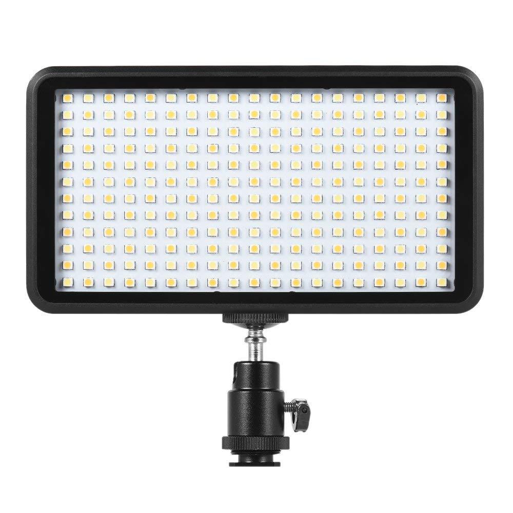 Andoer Panel de luz LED regulable de 228pcs 3200K-6000K de Video Iluminación para Estudio Fotografía,cámara de vídeo y digital SLR Canon Nikon, Pentax, Panasonic, Sony, Samsung y Olympus