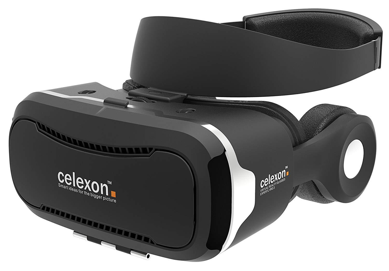 "celexon Expert - Gafas VR - Gafas 3D realidad virtual VRG 3 con auriculares, Smartphone 3,5"" a 5,7"""