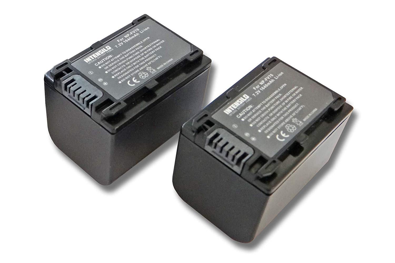 INTENSILO 2X Li-Ion batería 1640mAh (7.2V) para cámara de Video, videocámara Sony DCR-SX85, DCR-SX85E, DCR-SX85ES por NP-FV70, NP-FV90
