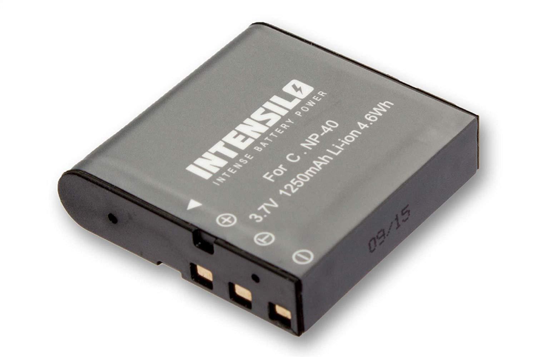 INTENSILO Li-Ion batería 1250mAh (3.7V) para cámara de video Digilife DXG-580V, DXG-5B1V, HDD-3 por NP-40, PAC-0040.