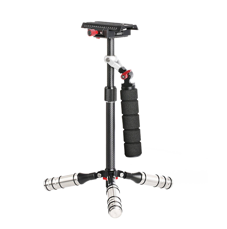 Sistema Estabilizador de Vídeo de Fibra de Carbono Portátil Movo VS7 con Plataforma de Liberación Rápida para Cámaras & Videocámaras de hasta 6.6 LB (3kg)