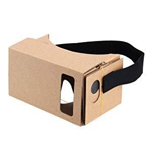 Tienda Virtual de Google de Carton, Caja Auriculares Gafas de Realidad Virtual 3D VR Lente Optico 3D con Grandes claros y cómoda Correa de la Cabeza Nariz Pad para Todos 4-6 Pulgadas de Smartphones