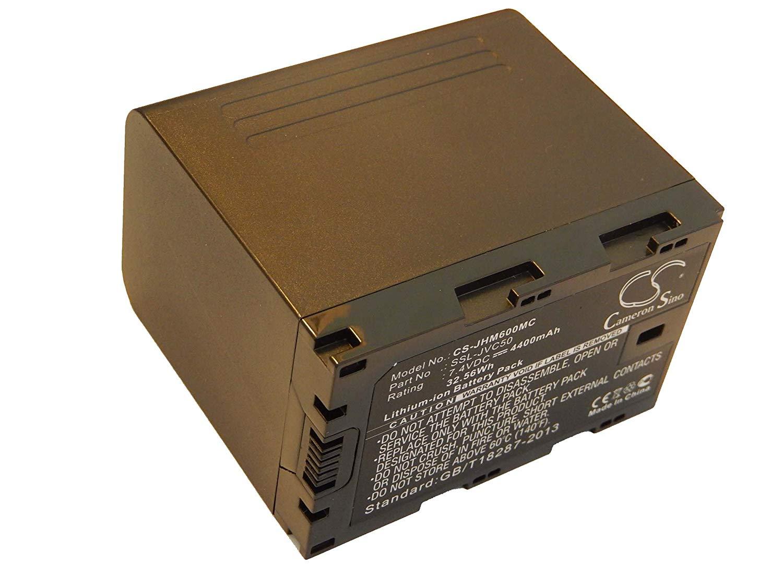 vhbw Li-Ion batería 4400mAh (7.4V) para cámara de Video, videocámara JVC GY-HM650EC, GY-HMQ10, GY-HMQ10E, GY-LS300, GY-LS300CHE por JVC SSL-50.
