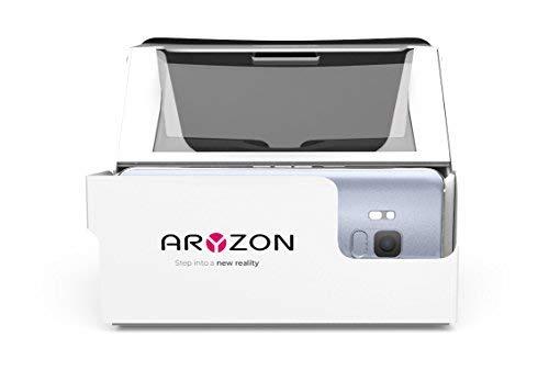 Aryzon - Auriculares de Diadema 3D para Smartphones (cartón potenciado, Gafas de Realidad virtuales/aumentadas, iOS y Android, ARKit y ARCore, Totalmente Compatible)