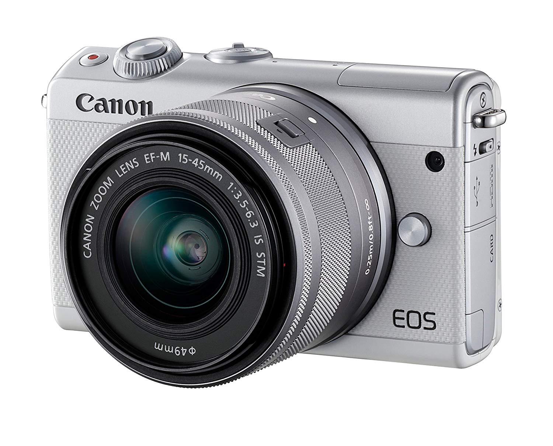 Canon EOS M100, Cámara digital con EF-M 15-45 mm, Blanco