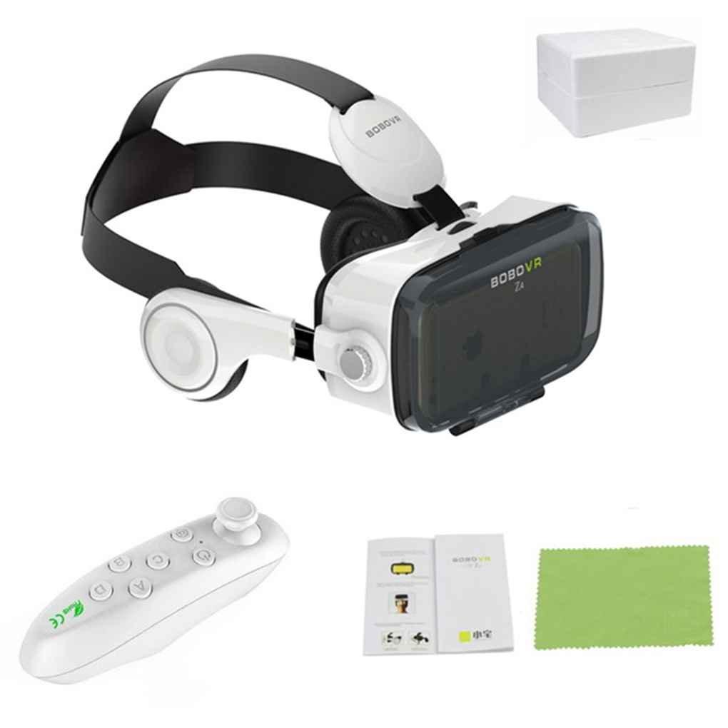 Mengonee Z4 3D Mini gafas de Realidad Virtual Cuero 3D Cartón Casco VR Gafas Auriculares Estéreo Caja Teatro Privado