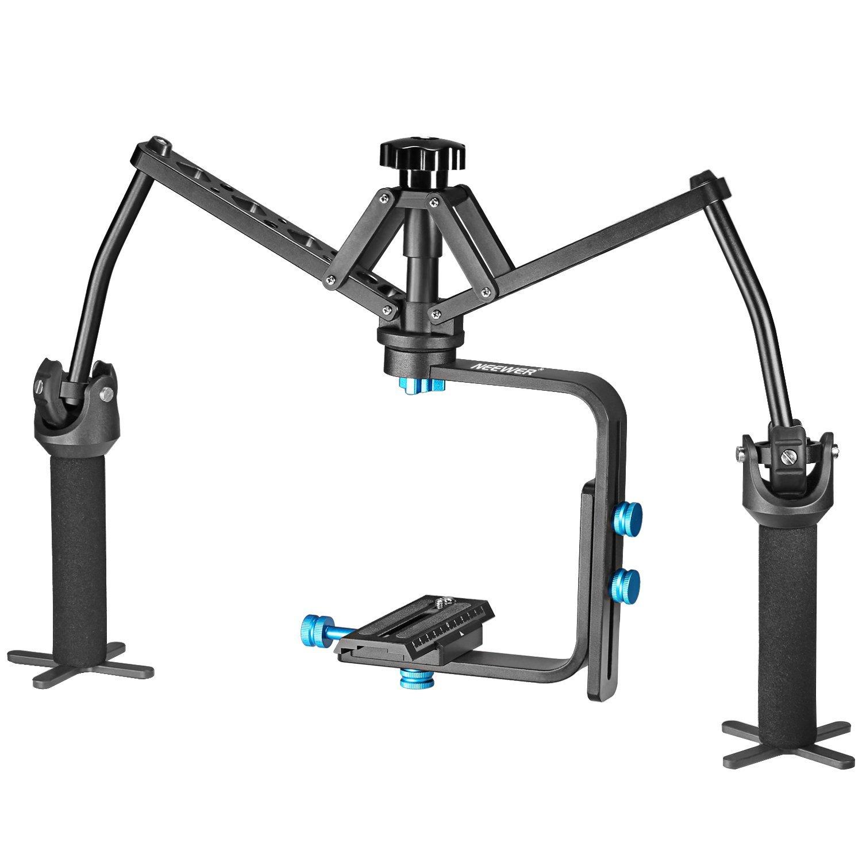 Neewer 10090488 - Estabilizador Mecánico Junta Portátil de Mano, Construcción de Aleación de Aluminio para Canon, Nikon, Sony y otras Cámaras Réflex Digitales Grabadoras de DV Videocámaras hasta 6 Kg