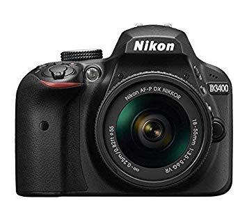 Nikon D3400 - Cámara réflex Digital + Objetivo AF-P DX NIKKOR 18-55 mm f/3.5-5.6G VR – Negro