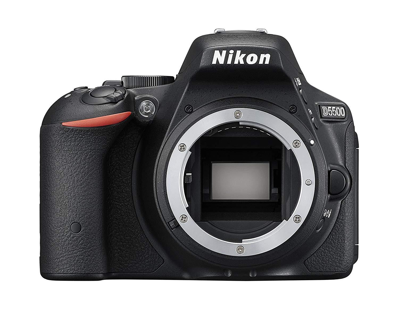 Nikon D5500 - Cámara réflex Digital (24.2 MP, Pantalla LCD, WiFi), Color Negro (Importado)
