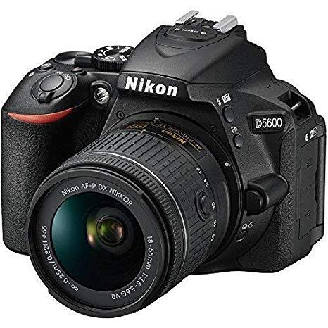 Nikon D5600 - Cámara Réflex Digital + Objetivo AF-P DX NIKKOR 18-55mm f/3.5-5.6G VR - Negro
