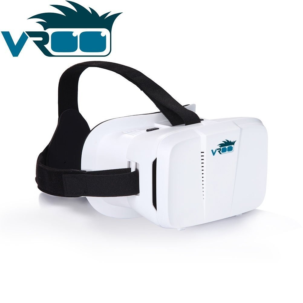 vroo 3d vr realidad virtual Google Cardboard auricular 3d vr Gafas Cardboard para películas y juegos 3d/compatible con smartphones de 4a 6pulgadas/iPhone/Samsung Galaxy/S6S7Edge Plus, iPhone se 66S Google cartón Oculus Rift Head Mounted cinta