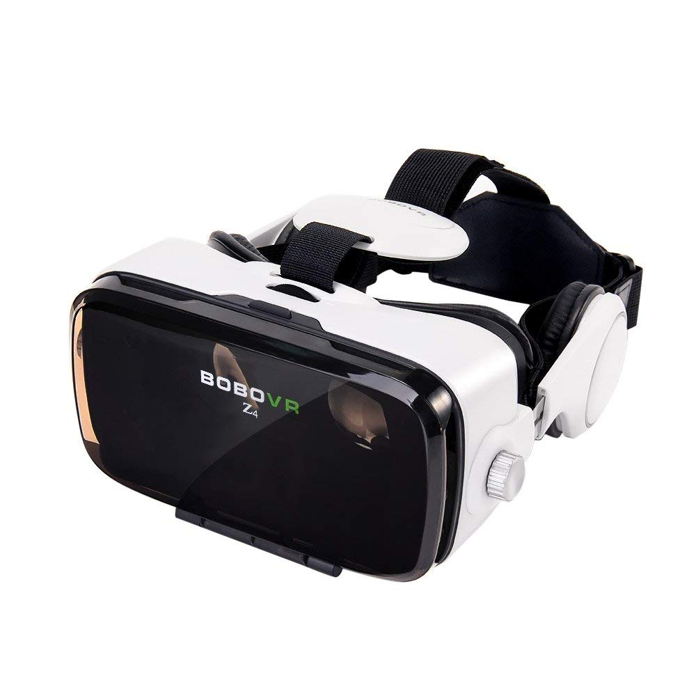 BOBOVR Z4 Xiaozhai VR 3D gafas de visión 120 ° FOV Virtual Reality auricular Movie Video Game Privado con auriculares para iPhone Samsung Galaxy 4.0~6.0 pulgadas IOS Android Smartphone