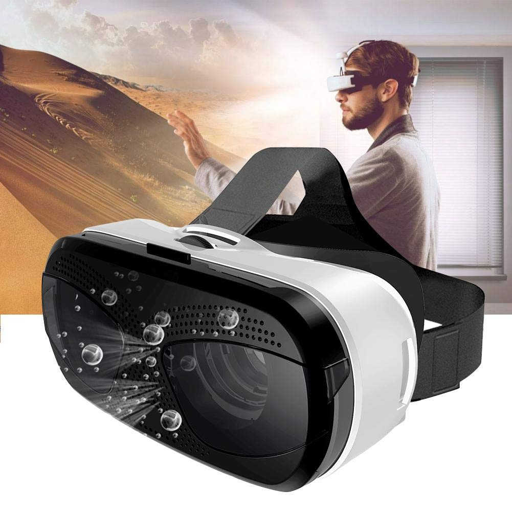 Gafas VR Auricular Google cartón,115°FOV, Gafas VR 3D Protección Ocular HD Gafas de Realidad Virtual con Mando/Controlador Remoto para iPhone, Samsung,con Pantalla de 3.5 a 6.0 Pulgadas