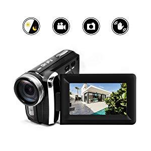 HG5250 Videocámara Digital FHD 1080P 12MP DV 270 Grados con Pantalla giratoria Cámara de Video para niños/Principiantes / Ancianos