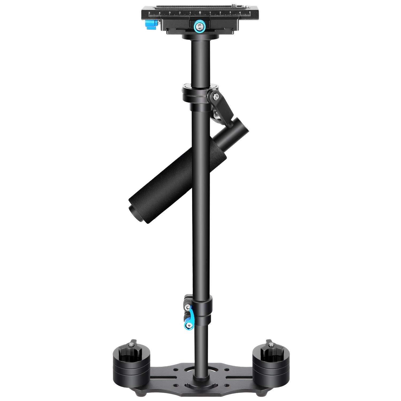 """Neewer - Estabilizador de mano 24""""/60cm con placa de liberación rápida de 1/4 """" y 3/8"""", tornillo para DSLR y videocámaras hasta 6 libras / 2.7 kg"""