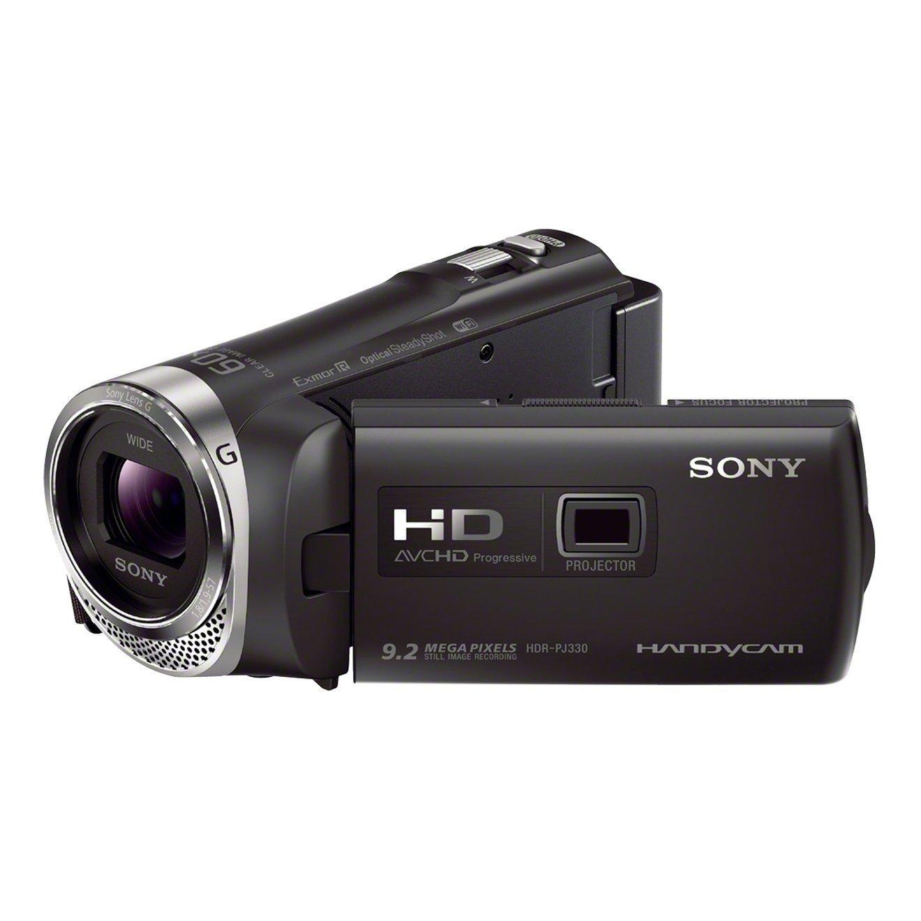 """Sony Handycam HDR-PJ330E - Videocámara de 2.3 Mp (pantalla de 2.7"""", zoom óptico 30x, estabilizador óptico, vídeo Full HD, WiFi y NFC), Negro"""