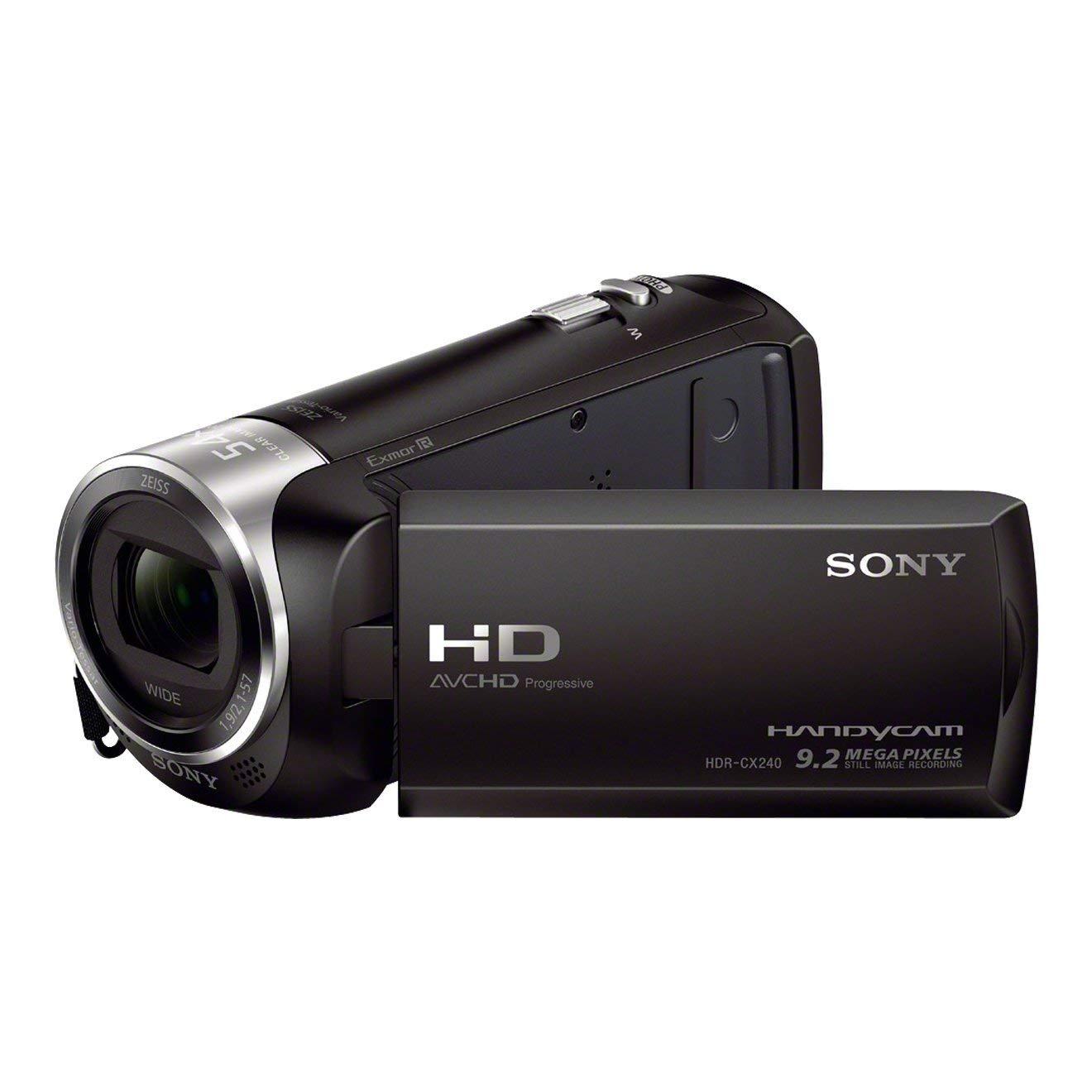 """Sony HDR-CX240 - Videocámara (2.51 Mp, pantalla de 2.7"""", zoom óptico 27x), negro [importado]"""